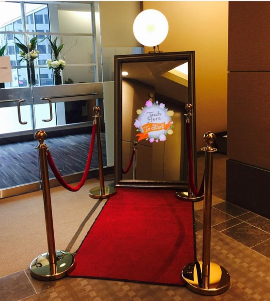 magic mirror red carpet stanchions