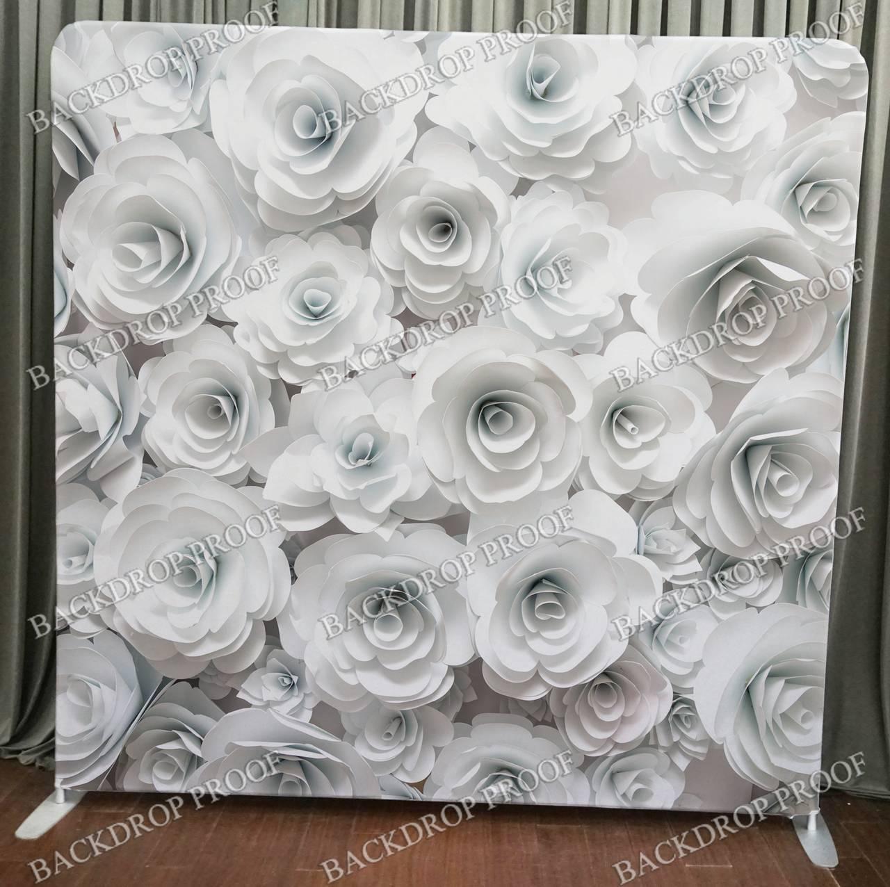 White Floral Flower Back Drop