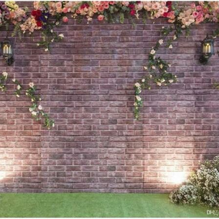 Palace Mansion Wall Floral back drop